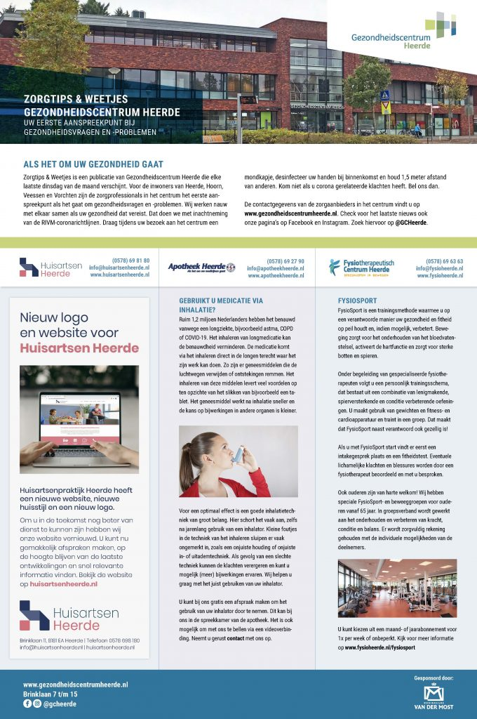 Infopagina Gezondheidscentrum   Mei 2021